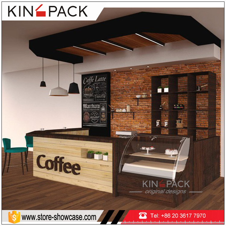 Classic Modern Style Wholesale Coffee Shop Display Counters Cafe Bar