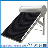 domestic complete non-pressure certificated solar water heater
