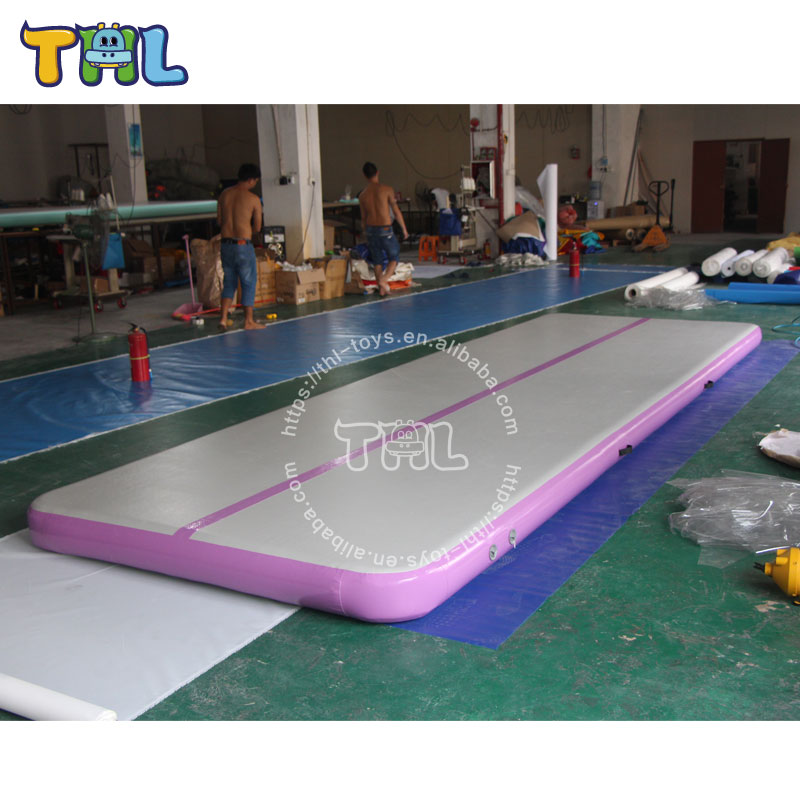 DWF inflatable gymnastic mats,customized inflatable air tumbling track ,inflatable air beam