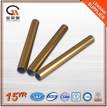 6000 series decorative aluminium pipe , extruded golden aluminum alloy tube