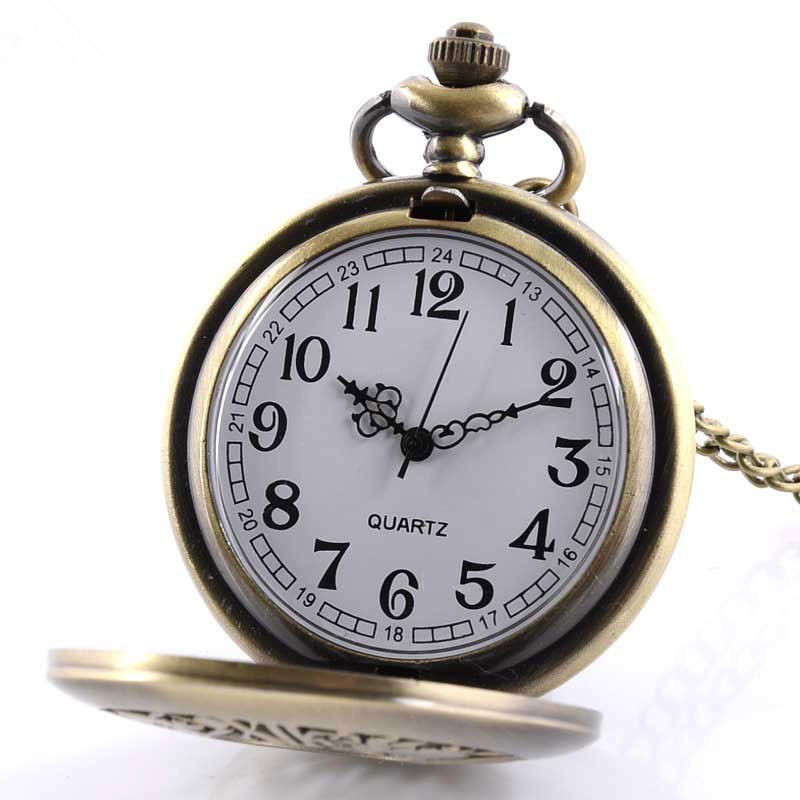 Wholesale cheap quartz promotional RomanNumerals Retrostyle Antique Pocket Watch
