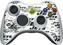 NFL New York Jets Xbox 360 Wireless Controller Skin - New York Jets - Blast Alternate Vinyl Decal Skin For Your Xbox 360 Wireless Controller