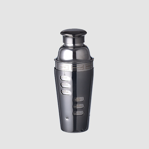 Bar 700ml shaker cocktail black color recipe stainless steel cocktail shaker