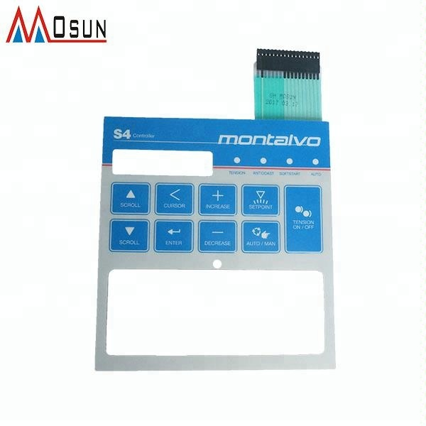 Custom 3M adhesive metal dome push button tactile membrane keypad panel