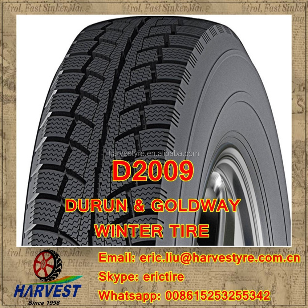High Quality Durun Goldway Brand 225/45R17 195/50R15 205/55R16 175/65R14 winter tire, D2009 pattern Available