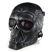 WoSporT Military Tactical Full Face Mask for Hunting Shooting Airsoft Paintball Halloween Party Masquerade CS