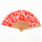 Fan Fan Wooden Fabric Hand Fan For Wedding