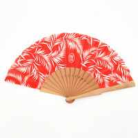 Wooden fabric hand fan for wedding