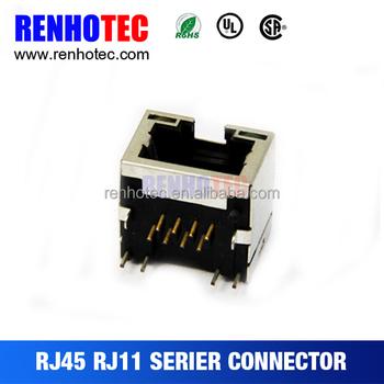 Cat5e Single Port Rj45 Socket Module With 12 Pcb Pinouts - Buy Cat5e ...