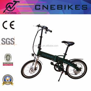 250W Folding 20'' ebike city folding e bike aluminum alloy frame disk brake electric bike with LED light