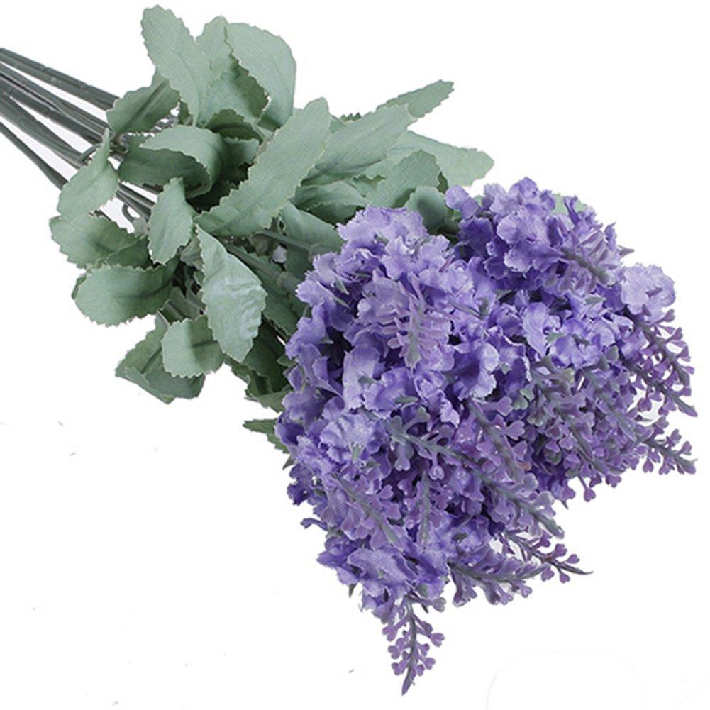 Cheap fall silk flower bouquets find fall silk flower bouquets get quotations 2 bouquets 20 heads artificial lavender silk flower wedding home party decor light purple izmirmasajfo