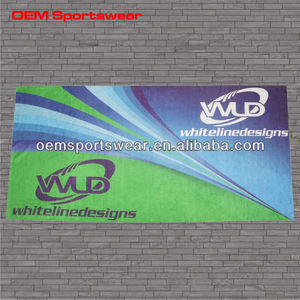 custom promotional printed beach towel