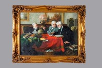 4402 European Style Antique Framed with Handmade Oil Painting on Canvas