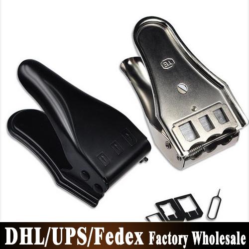 Бесплатный DHL Fedex 200 шт./лот 3 в 1 Nano микро сим-адаптер картонорезальные для iPhone 6 плюс 5 5S Samsung Nano SIM + бесплатная адаптер SIM карты