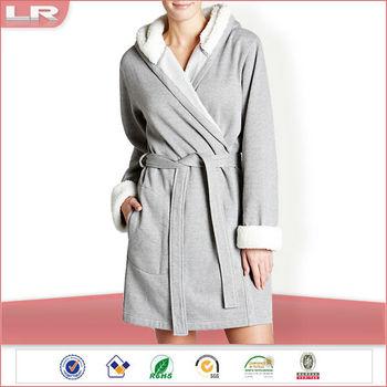 latest collection later new release Cheap Soft Grey Women Fleece Robe Hooded Robe - Buy Fleece Robe  Hooded,Hooded Robes,Women Hooded Robe Product on Alibaba.com
