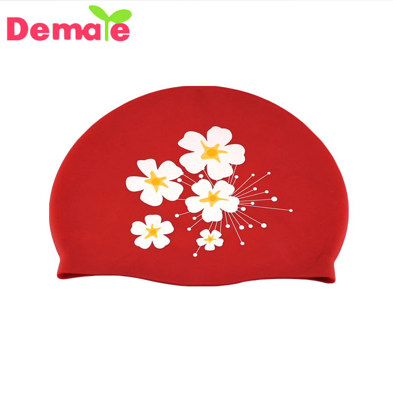 2016 Wholesale Factory Customized Printing Swimming Cap Silicone Rubber Swim Caps