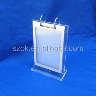 Acrylic Clear Flip Custom Table Stand Menu Holder