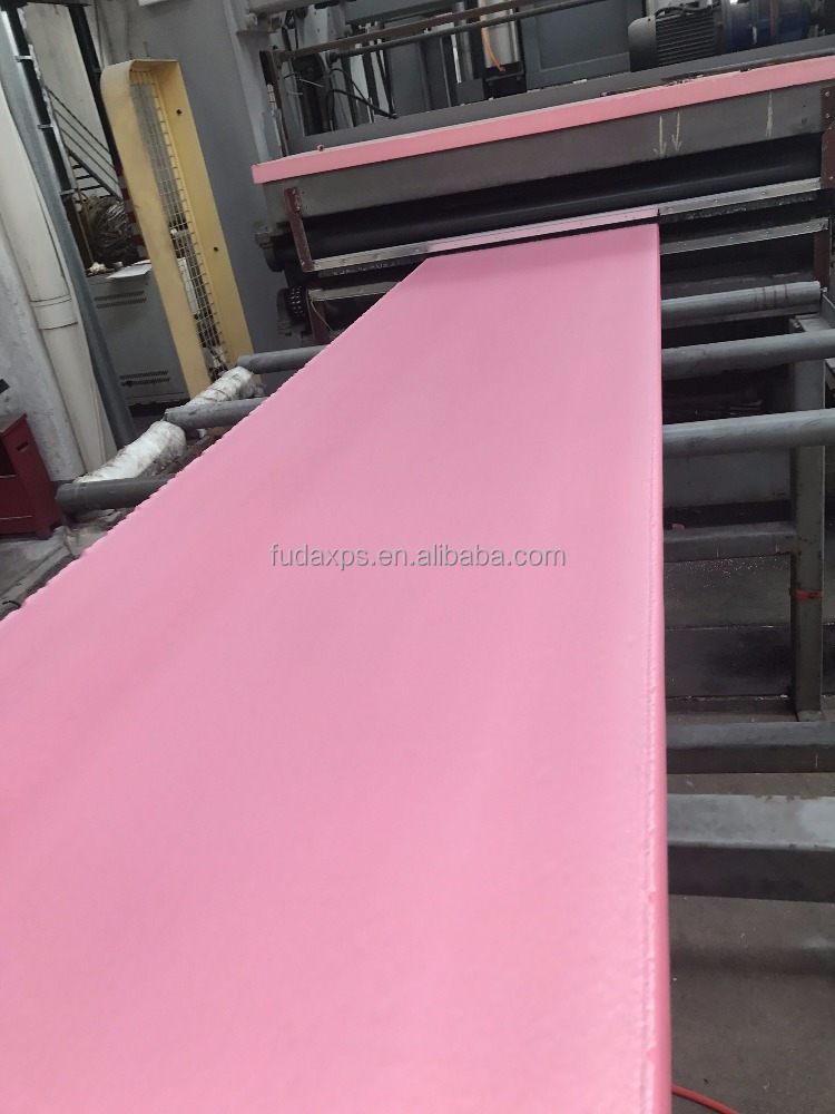 2017 FUDA newest XPS extruded polystyrene foam board with heat insulation B1 Grade Skin-On Pink 10mm Thick XPS foam board