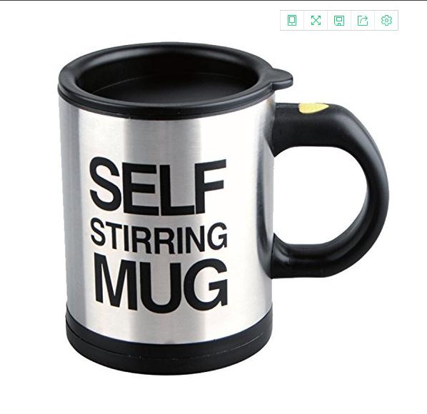 Automatic Self Stirring Coffee Mixing Cup Stainless Coffee Mug