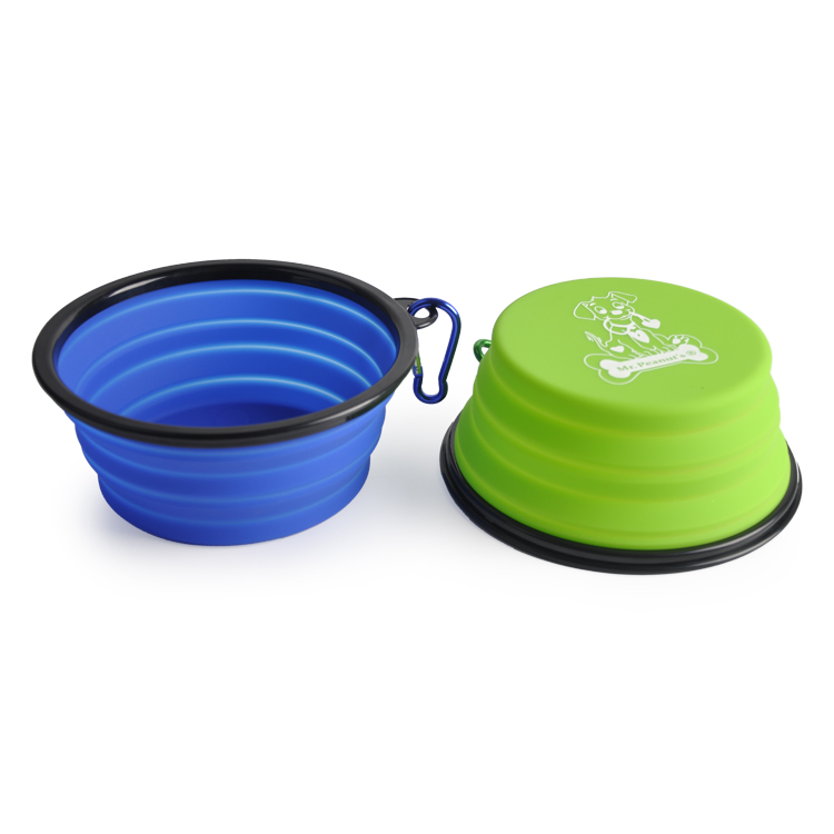 2019 Solid Color Pet Cat Dog Bowl Folding Collapsible Silicone Puppy Doggy Feeder Water