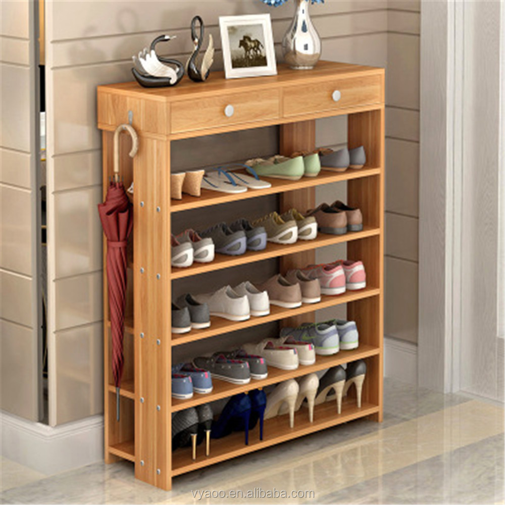 Wooden Shoe Cabinet ~ Wood shoe rack cosmecol