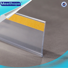 Plastic PVC Extruded Shelf Price Data Strip Label Holders Tag Holders Sign Holders for Supermaket Price Display