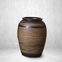 Chinese big stand porcelain vase brown ceramic vase for home decor