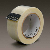 3M 8932 Synthetic Rubber Adhesive Tartan Filament Tape For General Purpose Applications