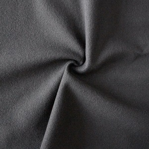 black 100% Polyester super poly tricot brushed fabric for Track Pants