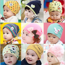 2015 New Lovely Pattern Baby Hat Autumn&Winter Knitted Cap For child kids baby beanies Cotton Infants Hat Freeshipping