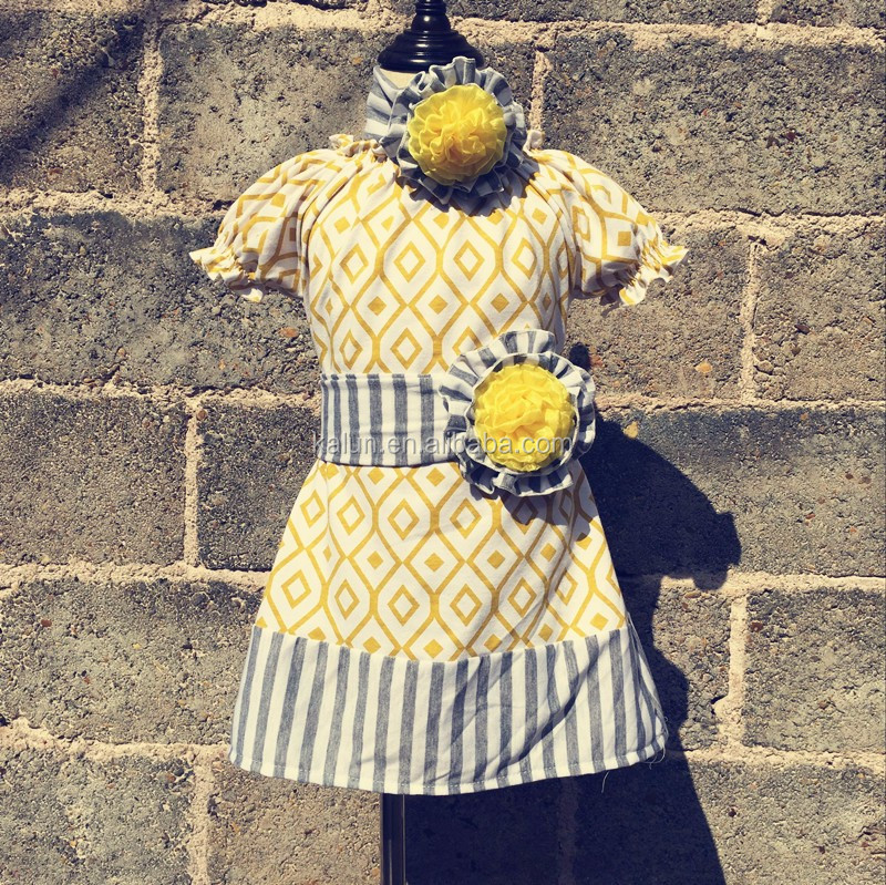 Kalun 2019 Wholesale boutique ruffle dress for girls fashion ruffle dresses 100%cotton ruffle dresses фото