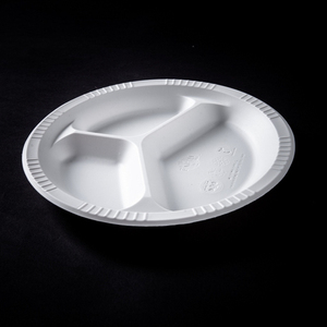 Disposable Plastic Dinner Plate Buffet Plate Corn Starch Tableware