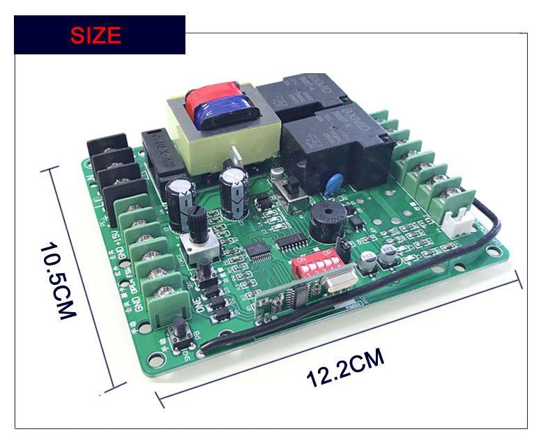 Ac 220v Sliding Gate Opener Control Board Dw 1206 Control