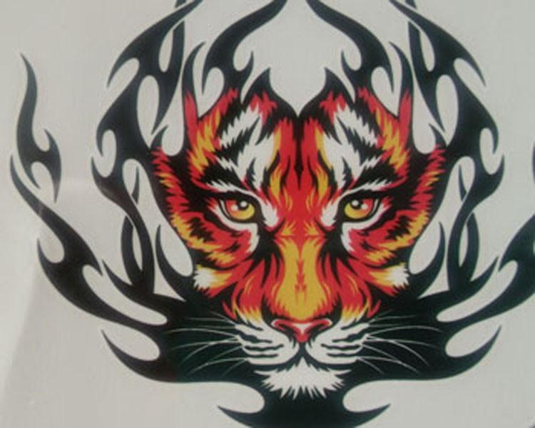Lc2801 3d Mens Tattoo King Tiger Large Waterproof Fake Animal Tattoo