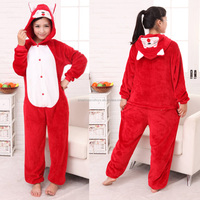 Wholesale animal onesie pajama adult\kids red fox onesie