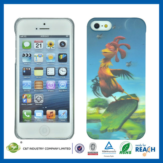 C&T Cock 3D design fashion case for iphone 5