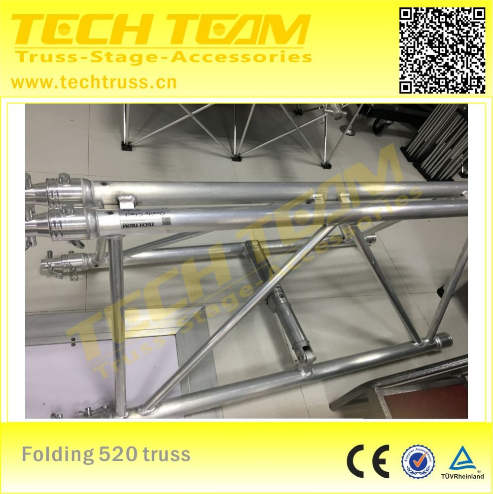 Aluminum folding truss system , foldig stage truss design , folding connect easy to assemble!