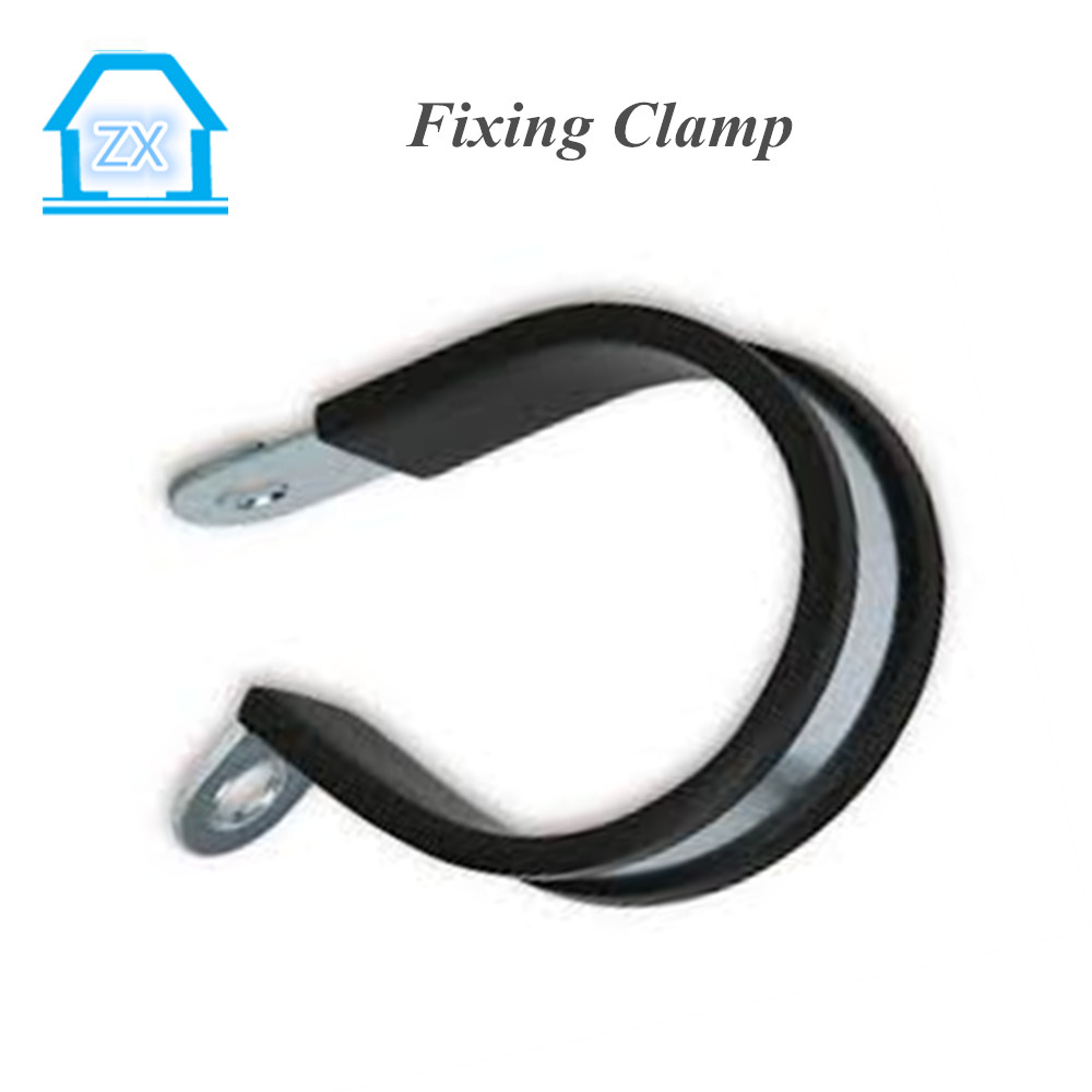 Stainless Steel Fixing Hose Clamp with Rubber