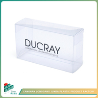 JUNDA 2016 Top Quality Transparent Wall Mounted Folding Plastic Storage Box For Led Light