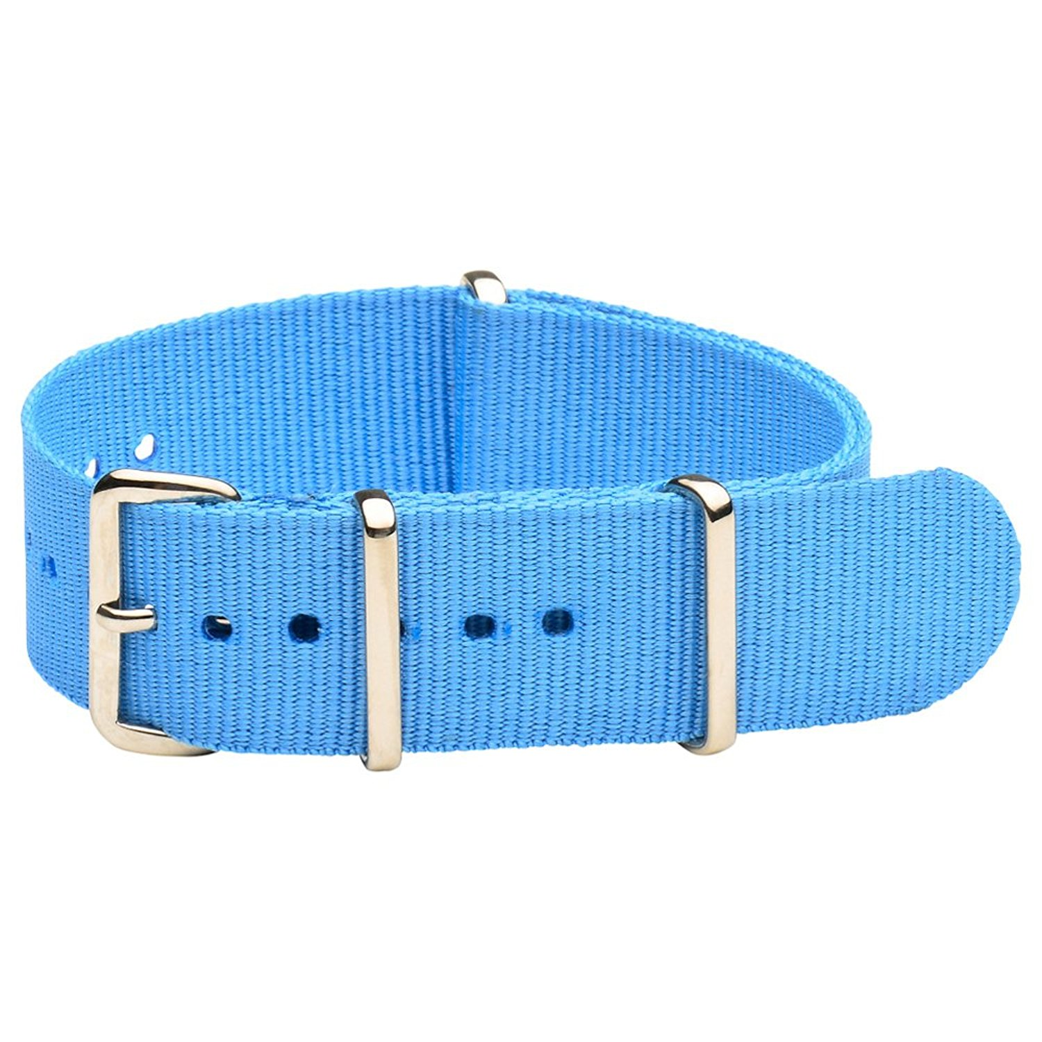 Clockwork Synergy Classic Nylon Nato watch straps bands (22mm, Sailor Blue)