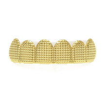 Ободок с золотыми зубцами ROMAD, в стиле хип-хоп, топ и низ, 6 зубных грилей, колпачки для косплея, вампирский зуб, для вечеринок, ювелирных издел...(Китай)