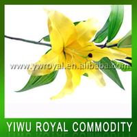 Cheap Silk Yellow Flowers Artificial Lily