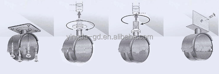 Heavy Duty Office Chair Casters Rubber Office Chair Casters