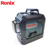Ronix 360 Degree Cross Line Laser Level 3D Wall Sticking Instrument 12 Lines Green Beam Model RH-9536