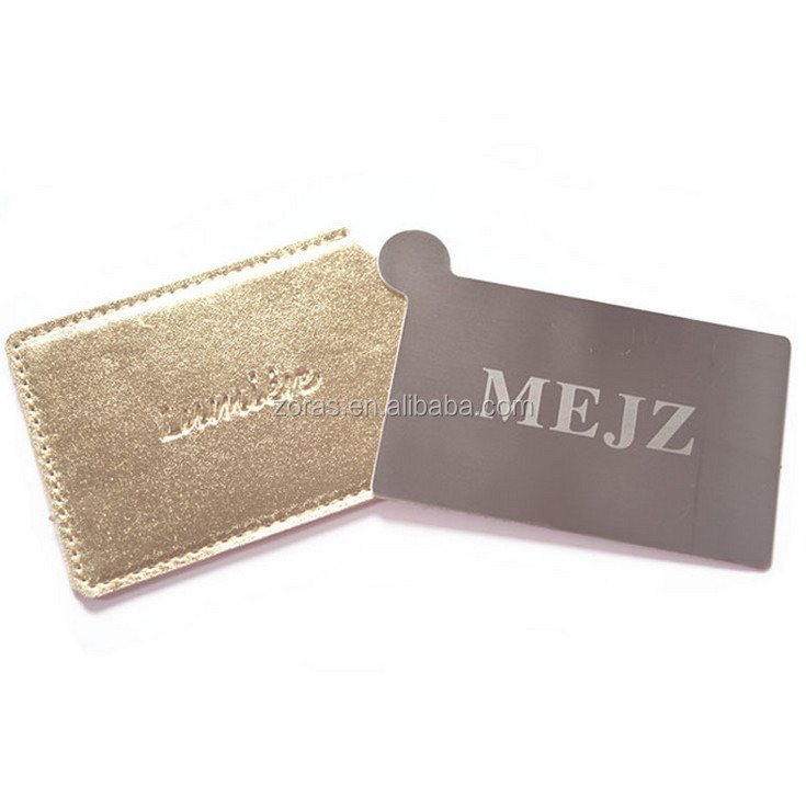 Promotional CUSTOM LOGO Bulk Cheap NO MOQ Trade Assurance Order Pocket 100% Durable Metal Mirror