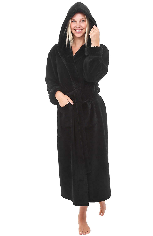 717e331ae9 Buy Del Rossa Mens Fleece Full Length Hooded Bathrobe Robe in Cheap ...
