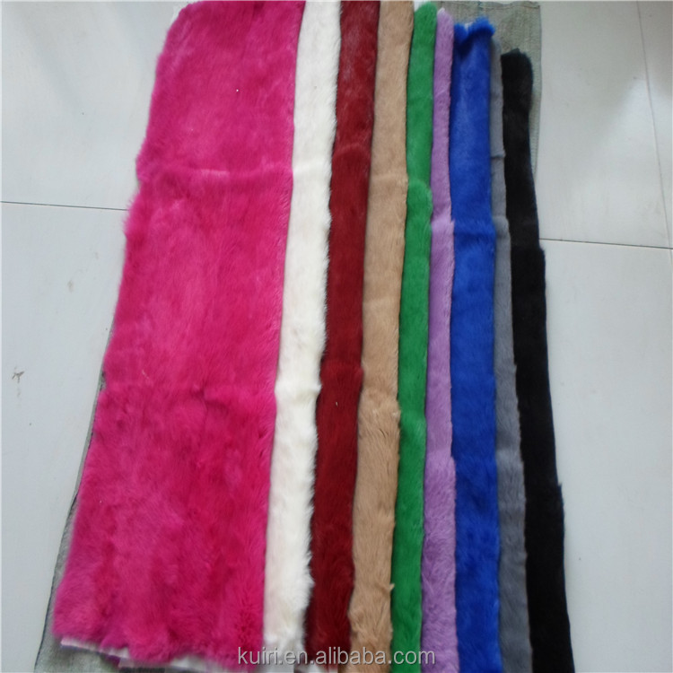 Dyed Two Colors Chinchilla Rex Rabbit Fur Throw Thick Soft Rex Rabbit Fur Plate for Carpet Blanket tp-11