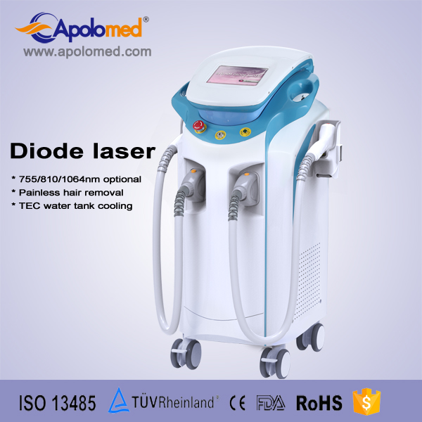 Professional beautician use diode laser 808 nm