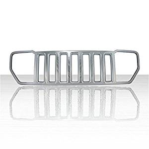 1pc Chrome ABS Grille Overlay for 2008-2013 Jeep Liberty Sport