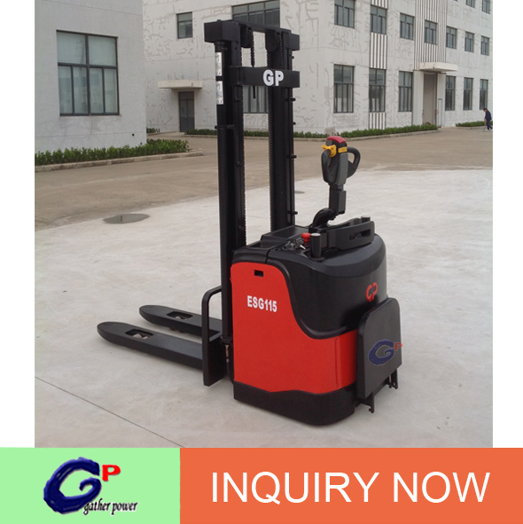 1500 kg electric walkie type forklift stacker hot sale in Europe